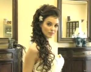 Свадебная прическа с кудрями
