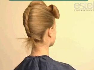 Прически с начесом собранные волосы