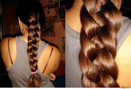 Примеры готовых кос из 4