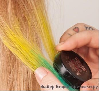 Как накрасить волосы тенями для волос