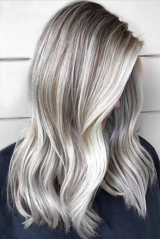 Картинки мелирование волос белым цветом