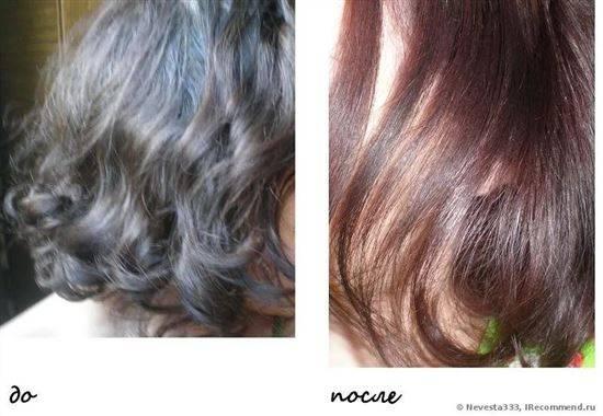 Фото до и после покраски басмой