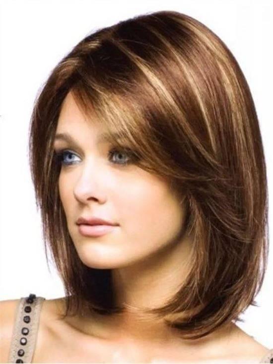 Женские стрижки для волос средней длины фото