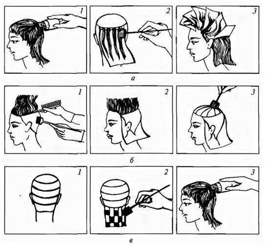 можно схема окрашивания волос картинки это орган