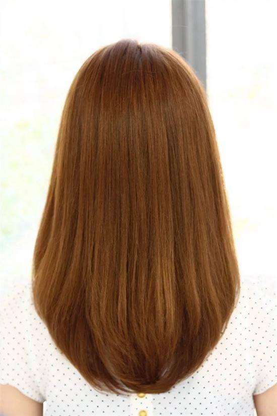 Фото стрижек сзади на длинные волосы